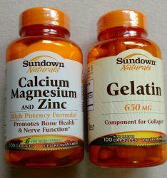 Kit Cálcio Magnésio E Zinco 100caps+ Gelatin 650 Mg 100 Caps