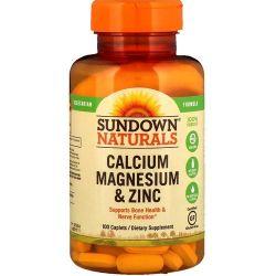 Calcium Magnesium & Zinc sundown  Caps, 100 caps