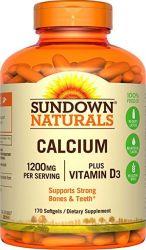 Sundown Naturals Cálcio 1200 Mg +vitamina D3 1000 Iu 100caps